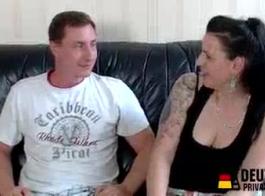 رجل ألماني ناضج مع مخاط أجنبي